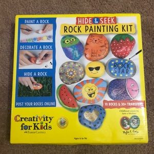 Children's rock painting set